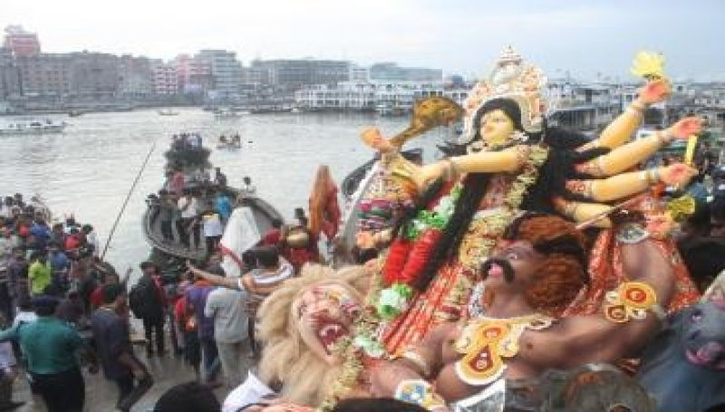 Durga Puja ends with immersion